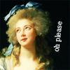 chocolatepot: Mme Grand, looking up but seeming to roll her eyes (Oh please)
