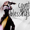 "sathari: Sephiroth from FFVII with caption ""Count your blessings"" (Sephiroth- count your blessings)"