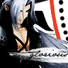 "sathari: FFVII!Sephiroth with caption ""glorious"" (Sephiroth is glorious)"