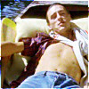 copracat: Paul Weller reclining in a boat in a scene from the music video for 'Long Hot Summer' (summery boy)