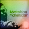 copracat: blurred image of Cedric Diggory wielding his wand with text 'Abracadabra motherfucker' (abracadabra)
