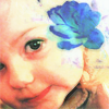 ht_murray: little girl, cheeks, blue rose (samheartdean)