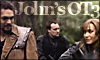 copracat: Ronon and Teyla smiling at each other in the foreground, Rodney in the background with text 'John's OT3' (atlantis tsf)