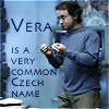 copracat: Radek gesturing as in a lecture with text 'Vera is a very common Czech name' (atlantis vera)