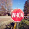 pajaroenvuelo: stop sign saying 'whoa' ({ whoa })