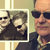copracat: Jim Brass from CSI, inset Brass and Grissom with text 'hard road' (brass road)