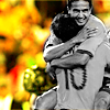 copracat: Harry Kewel and Tim Cahill (Australian Soccer Team) hugging (harry - must be love)
