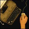besina_sartor: old fashioned typewriter being worked via mouse (mouse)