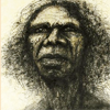 copracat: Detail of painting of David Gulpilil (gulpilil)