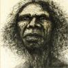 copracat: Detail of painting of David Gulpilil (gulpilil)