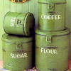 phinnia: green dry goods canisters (canisters)