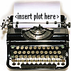 "kay_brooke: Typewriter with text ""insert plot here"" on the paper inside it (typewriter)"