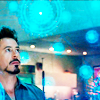 whitereflection: (tony stark science is magic (blue))