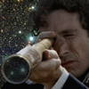 muccamukk: Lt Bush looking through his spy glass, which reflects back stars. (HH: I See Stars)
