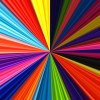 digitalart: bright colors converging on a point near the center of the image (rainbow)
