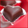 pne: A chocolate heart (love, loved, heart, valentine)