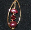 dichroic: (beadwork, earring)