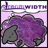 sofiaviolet: Dreamsheep with purple fiber fleece (fiber sheep)