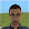 "pne: An image of a sim from the game ""The Sims 2"", representing me. (sim me)"