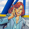 kerrypolka: Contemporary Lois Lane with cellphone (jewish - reading)