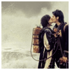 sofiaviolet: Gerard and Lindsey/standing in the sea/k-i-s-s-i-n-g (of the ocean)