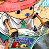 xparrot: Chopper reading (usopp rocks. no really)
