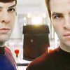 pixel: Kirk & Spock (Star Trek 2009) (trek: ks focus)