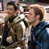 helens78: John Cho and Chris Pine sit on set in spacesuits. (st: cho/pine suits)