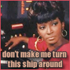 "laurajv: Uhura says ""Don't make me turn this ship around"" (uhura, don't make me turn this ship around, star trek uhura)"