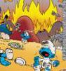 luckytroll: Smurf Village Bombed (smurfs)