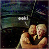 "cantarina: teal'c clings to sam, text reads ""eek"" (sg1 - teal'c clings to sam)"