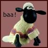 twistedchick: Shaun the sheep in his sweater (baaa)