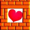 twistedchick: cptr art-bricks around a heart (room 4 love)