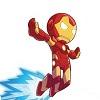 intothespin: Tiny cartoon Iron Man (tiny cartoon iron man)