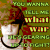 twistedchick: child in helmet: you wanna tell me what war he's gearing up to fight? (what war)