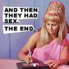 zellieh: Janice Rand sitting writing on a padd. Text: and then they had sex. The end. (writing: STTOS Rand & then they had s)