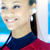 st_aurafina: Uhura, on the bridge, smiling (Star Trek: Uhura smiling)