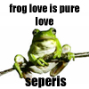 seperis: it's all about love of the frogs (another frog)