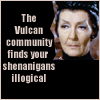 laurajv: The Vulcan Community Finds Your Shenanigans Illogical (star trek shenanigans, t'pau)