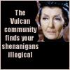 laurajv: The Vulcan Community Finds Your Shenanigans Illogical (star trek shenanigans, t'pau)