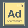 sylleptic: Periodic table entry for adamantium. (fandom; marvel; adamantium)