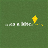 "sylleptic: Green background, small yellow  kite image.  Text:  ""...as a kite."" (mood; kite)"