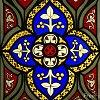 jillian: (stained glass flower)