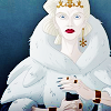 "prodigy: Jadis the White Witch from ""Horrors of Literature,"" illustrated by M.S. Corley. (queen of ice and snow)"