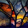 kiezh: Fragments of different skies stitched together (stained glass skies)