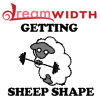 rhi: A dreamsheep lifting weights.  Getting sheepshape (sheepshape)