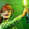 tobeajedi: Holding up her lightsaber with a BIG GRIN (Default)