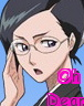 archangelbeth: Bleach's vice-captain Nanao, adjusting her glasses. Captioned: Oh Dear (Oh Dear)