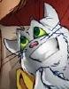 archangelbeth: A smirking white cat - Krosp from Girl Genius. (Krosp - Helping!)