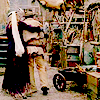 theleaveswant: two figures walk away together, Joanie in 1870s dress with veiled hat has arm around Jane in buckskin jacket & breeches (joanie and jane)